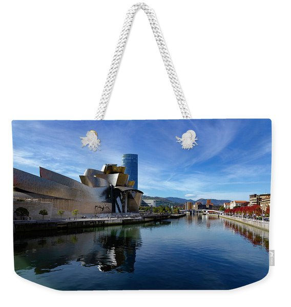 Bilbao In Autumn With Blue Skies Next To The River Nervion Weekender Tote Bag