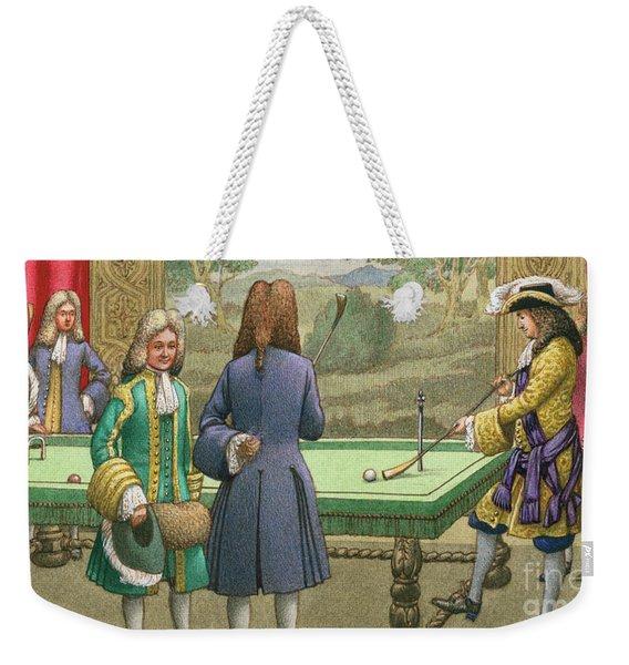 Billiards, As Played By Louis Xiv At Versailles Weekender Tote Bag