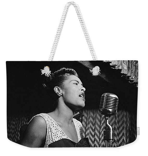 Billie Holiday William Gottlieb Photo New York City 1947 Weekender Tote Bag