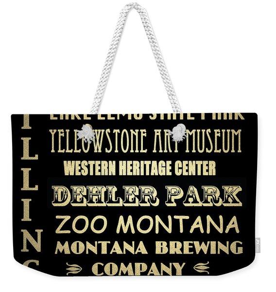 Billings Montana Famous Landmarks Weekender Tote Bag