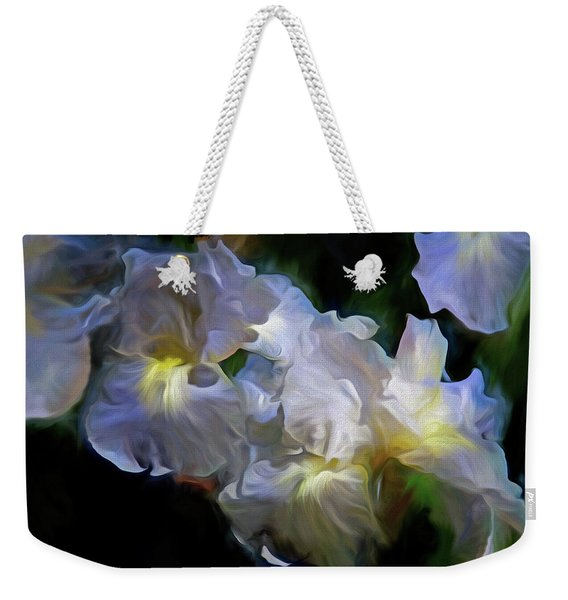 Billowing Irises Weekender Tote Bag