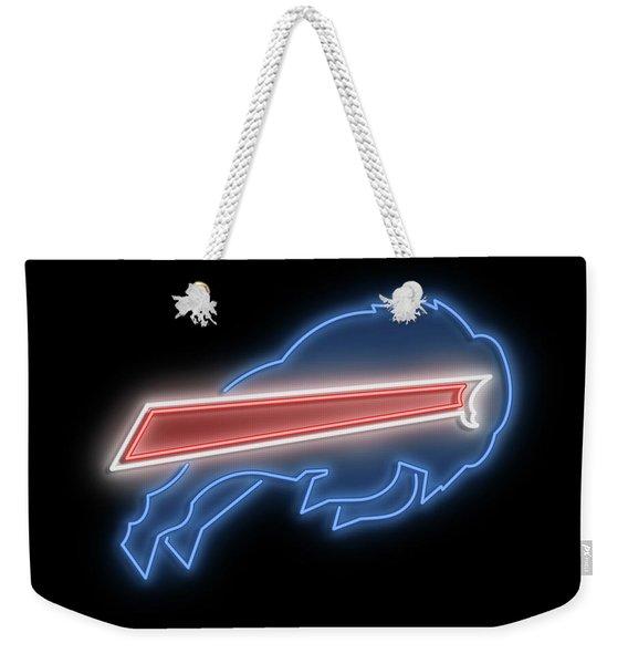 Bills Neon Sign Weekender Tote Bag