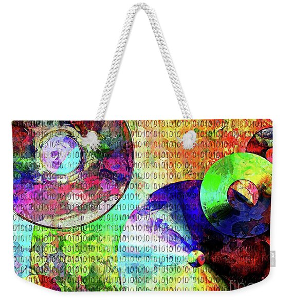 Binary Data Abstract Weekender Tote Bag