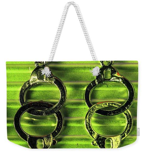 Binding Crimes Weekender Tote Bag