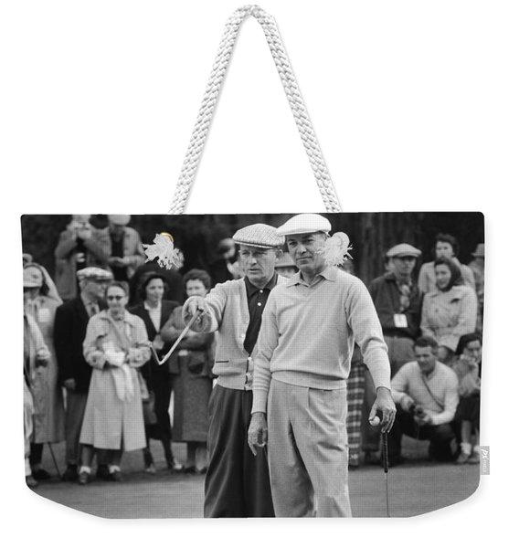 Bing Crosby And Ben Hogan Weekender Tote Bag