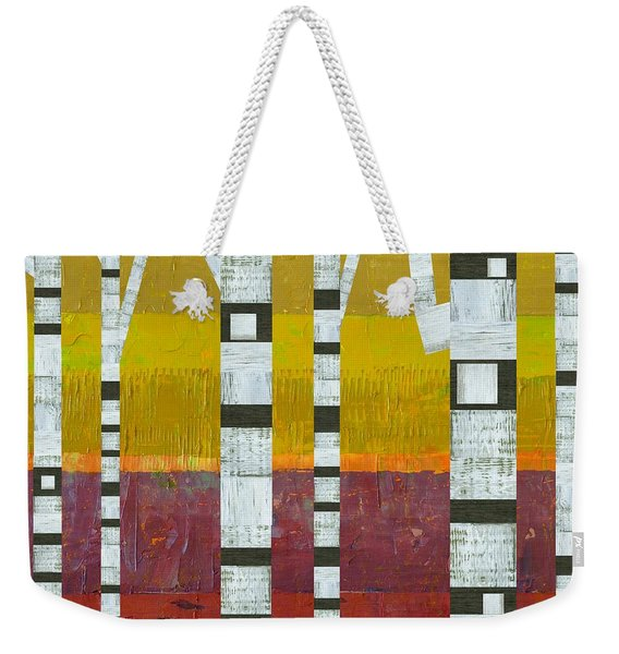 Birches With Purple And Gold Weekender Tote Bag