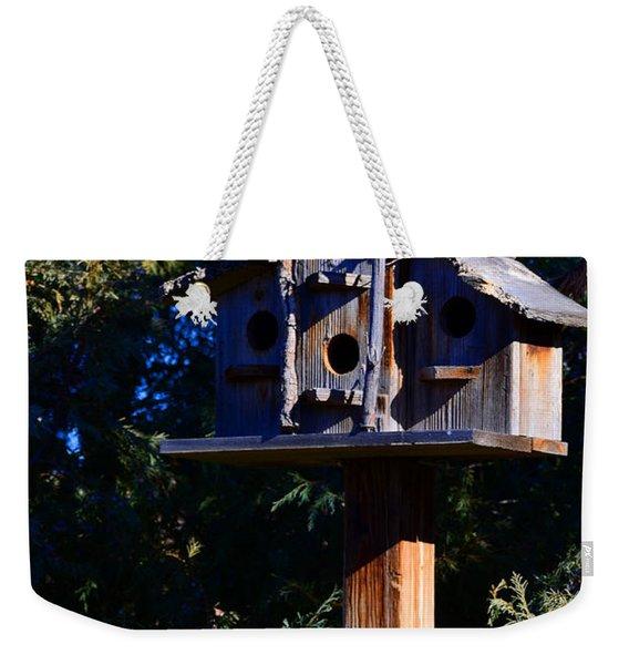 Bird Condos Weekender Tote Bag
