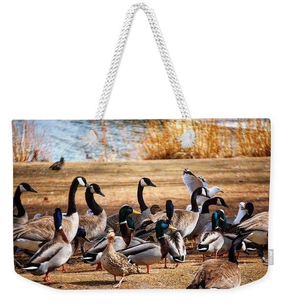 Bird Gang Wars Weekender Tote Bag