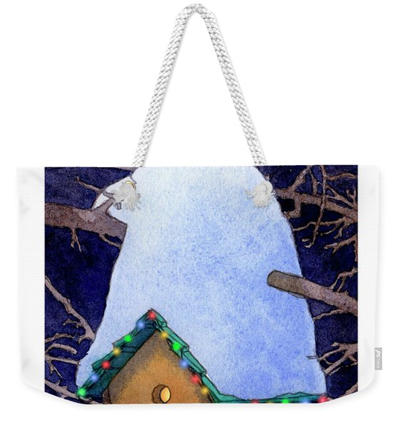 Bird House Christmas Weekender Tote Bag