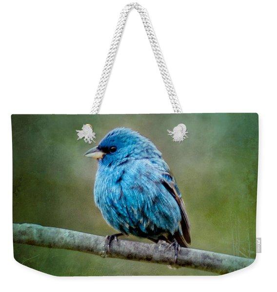 Bird In Blue Indigo Bunting Ginkelmier Inspired Weekender Tote Bag