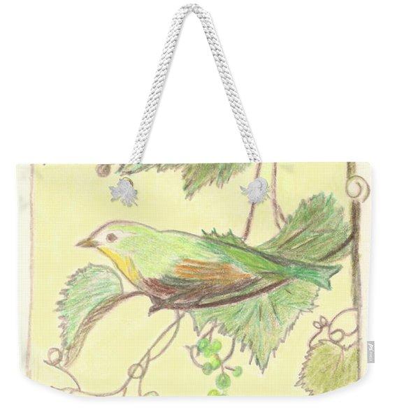 Bird On A Branch Weekender Tote Bag