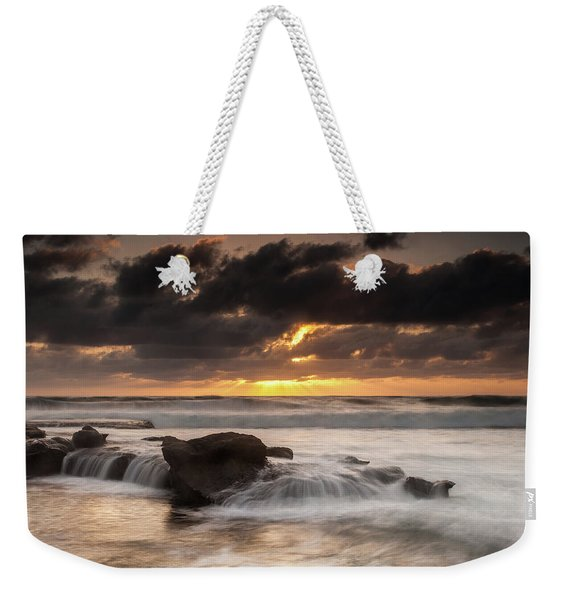 Bird Rock Clearing Storm Weekender Tote Bag