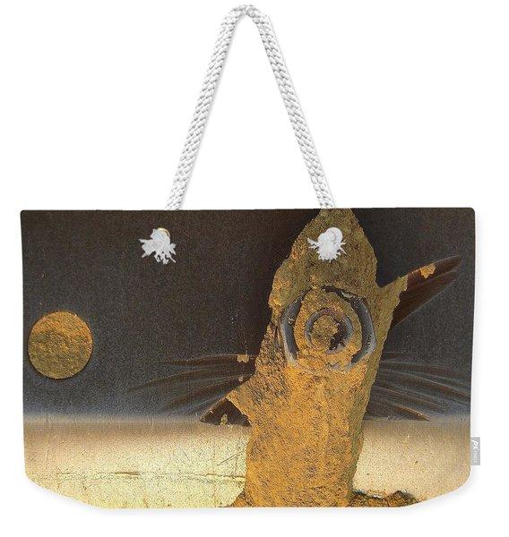 Birdfish And The Moon Weekender Tote Bag