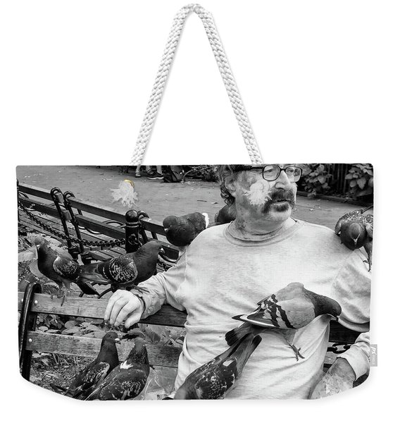 Weekender Tote Bag featuring the photograph Birdman Of Wsp by Eric Lake