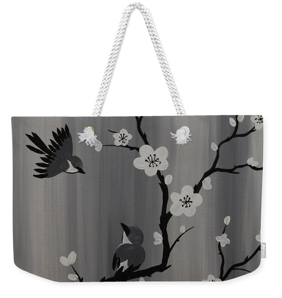 Birds And Blossoms Weekender Tote Bag
