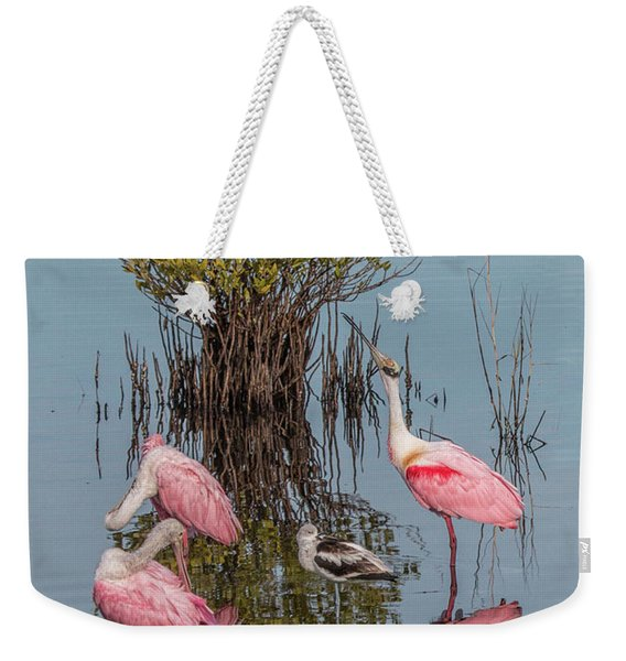 Birds And Mangrove Bush Weekender Tote Bag