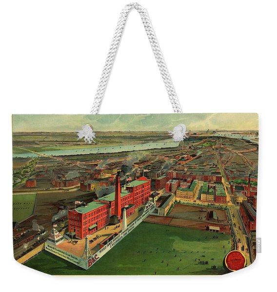Bird's Eye View Of Boston Weekender Tote Bag