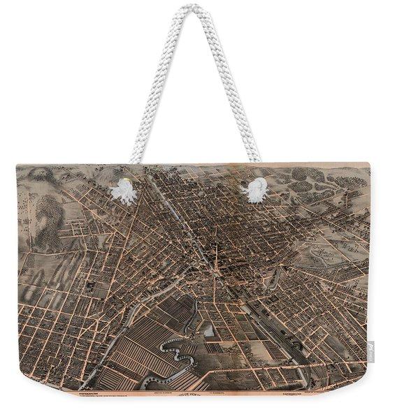 Birds Eye View Of Syracuse, New York  Weekender Tote Bag