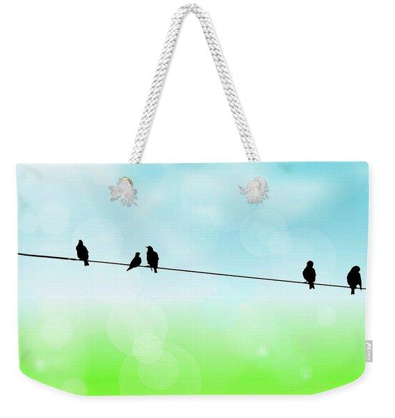 Birds Hanging Around Weekender Tote Bag