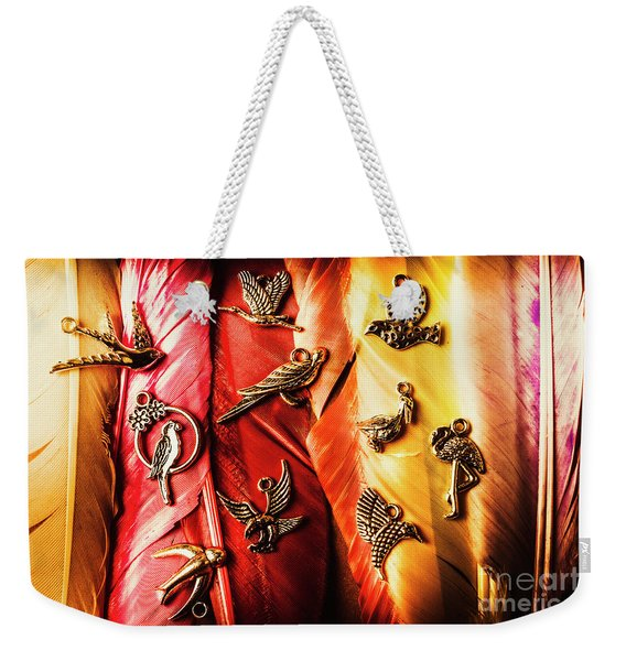 Birds Of A Decor Feather Weekender Tote Bag