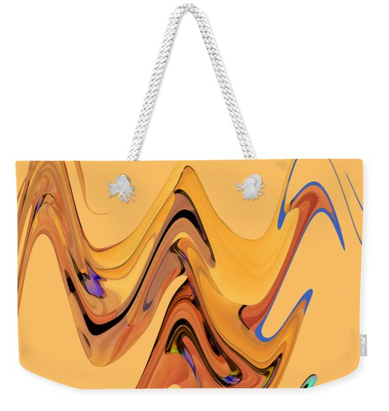 Weekender Tote Bag featuring the digital art Birds Of Paradise Improvisation by Gina Harrison