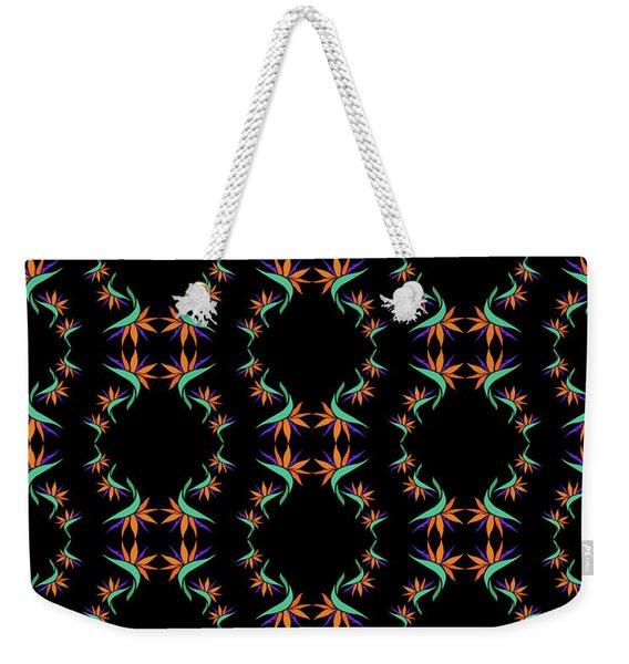 Birds Of Paradise Pattern Weekender Tote Bag