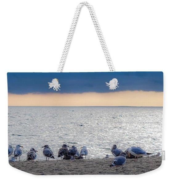 Birds On A Beach Weekender Tote Bag