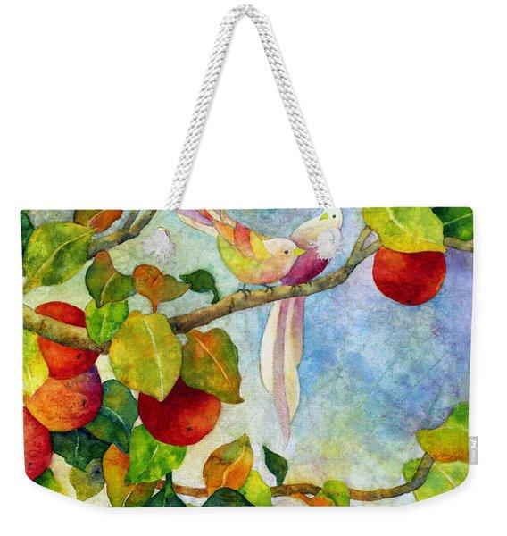 Birds On Apple Tree Weekender Tote Bag