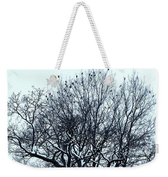 Birds On The Tree Monochrome Weekender Tote Bag