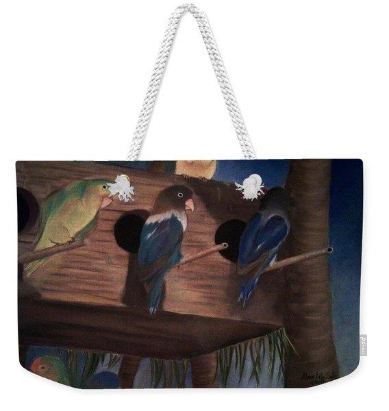 Birds Resting Weekender Tote Bag