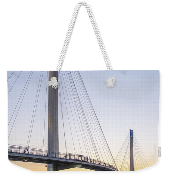 Birds Soaring Over Bob Kerry Bridge Weekender Tote Bag