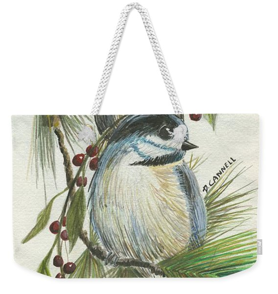 Birds Two And Fir Tree Weekender Tote Bag