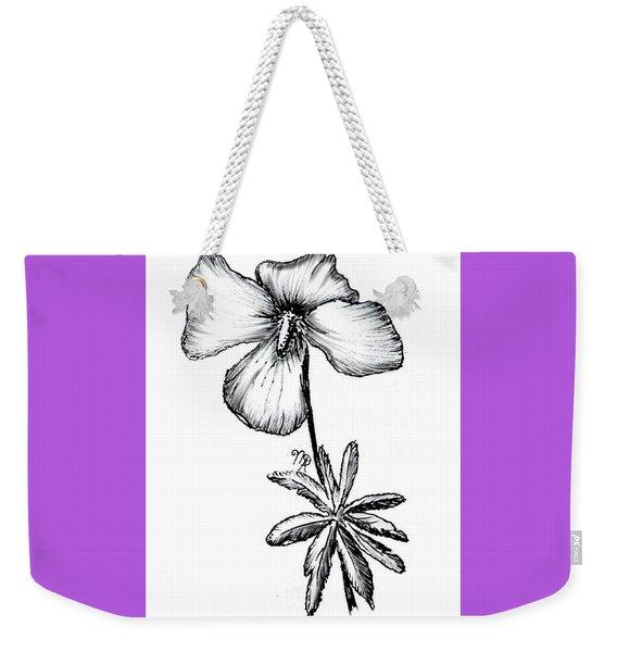 Birdsfoot Violet Weekender Tote Bag