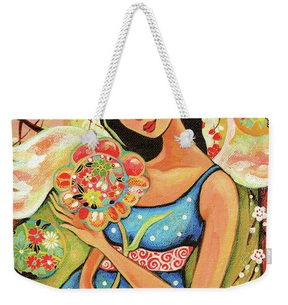 Birth Flower Weekender Tote Bag