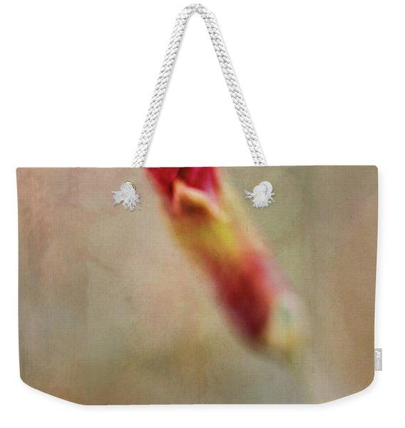 Birth Of A Red Bloom Weekender Tote Bag