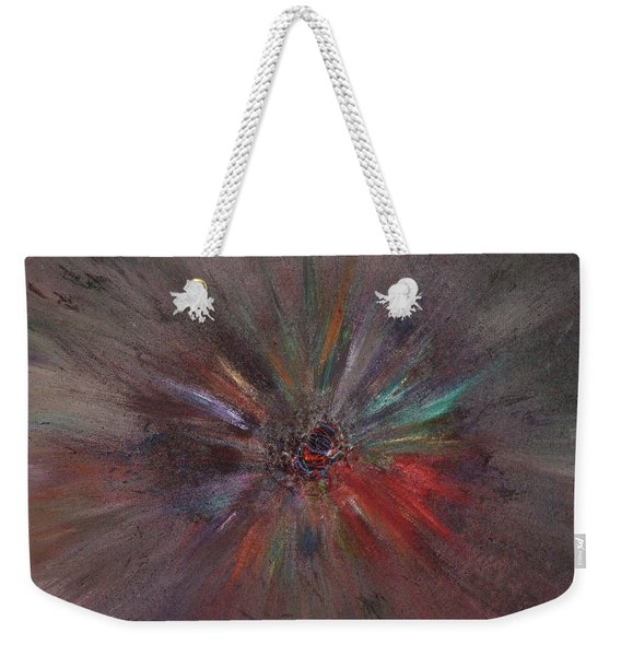 Weekender Tote Bag featuring the painting Birth Of A Soul by Michael Lucarelli
