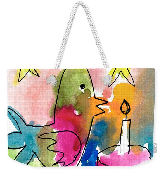 Birthday Bird Weekender Tote Bag