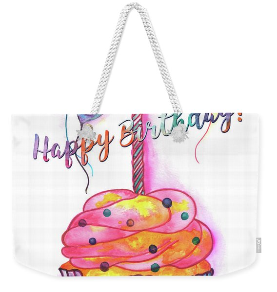 Birthday Cupcake Weekender Tote Bag