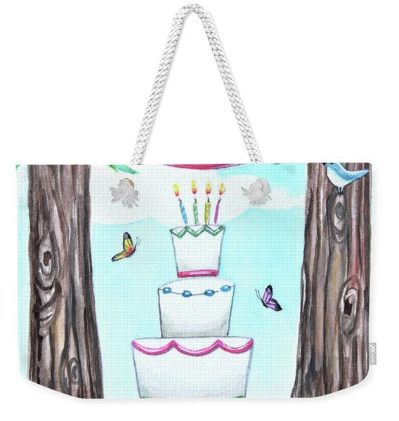 Birthday In The Forest Weekender Tote Bag