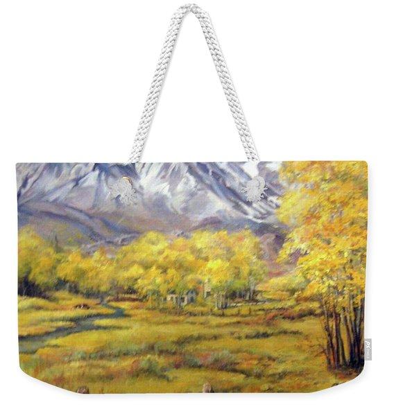 Bishop In The Fall Weekender Tote Bag
