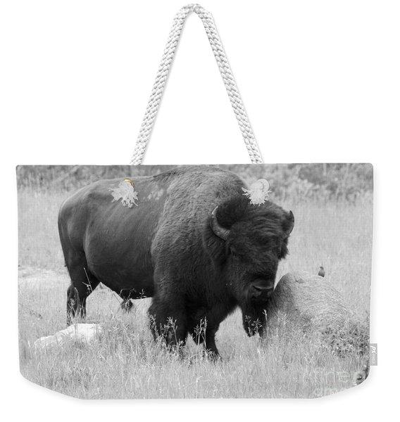 Bison And Buffalo Weekender Tote Bag