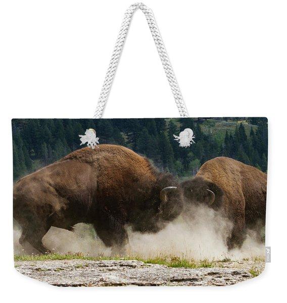 Bison Duel Weekender Tote Bag