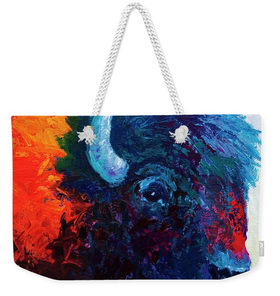 Bison Head Color Study I Weekender Tote Bag