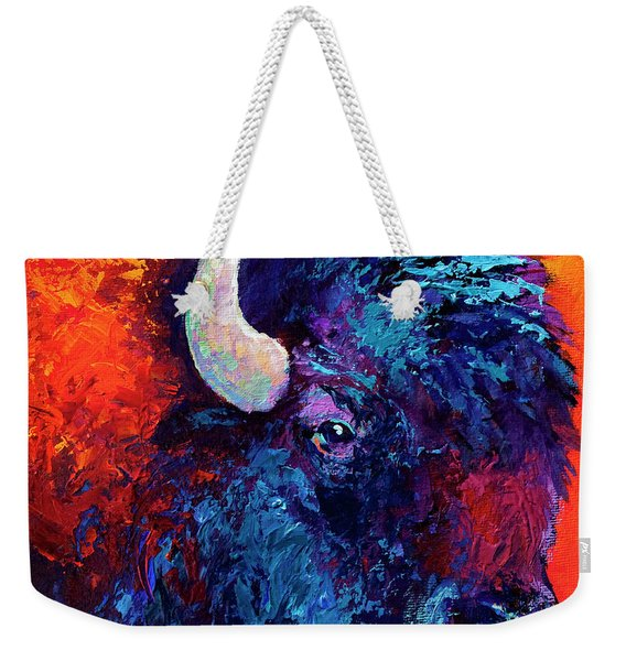 Bison Head Color Study II Weekender Tote Bag