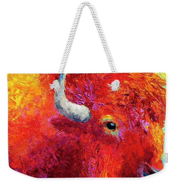 Bison Head Color Study Iv Weekender Tote Bag