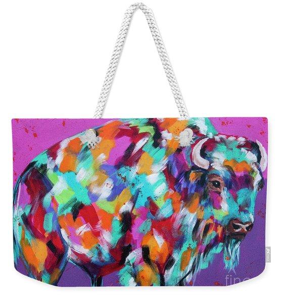 Bison Majesty Weekender Tote Bag