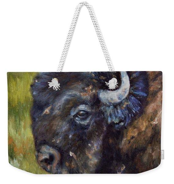 Bison Study 5 Weekender Tote Bag