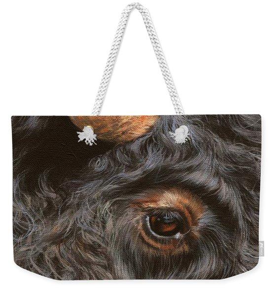 Bison Up Close Weekender Tote Bag