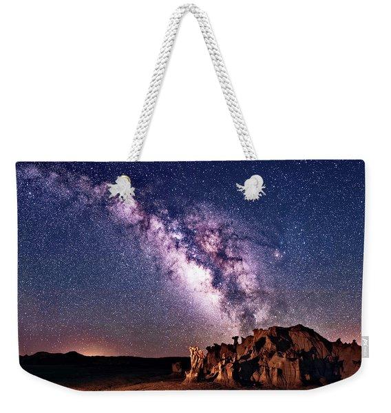 Bisti Badlands Night Sky Weekender Tote Bag