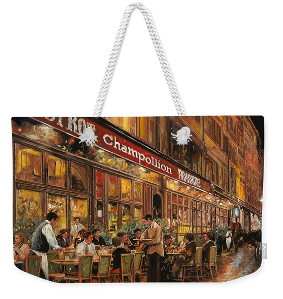 Bistrot Champollion Weekender Tote Bag